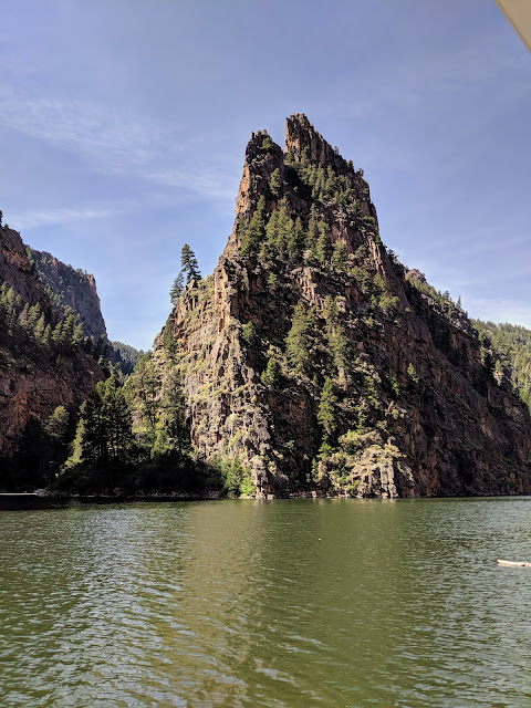 700-foot granite spire on the Gunnison River in Colorado was a notable landmark to natives and pioneers.