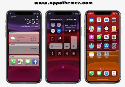 Iphone IOS 11 Pro Theme Untuk Realme Oppo Android