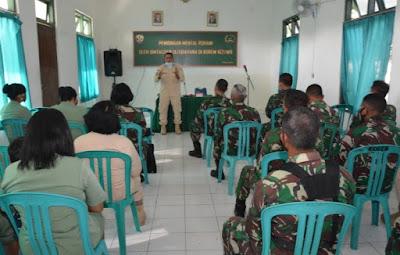 Prajurit Korem 162/WB Terima Bintal Rohani dari Bintaldam IX/Udayana