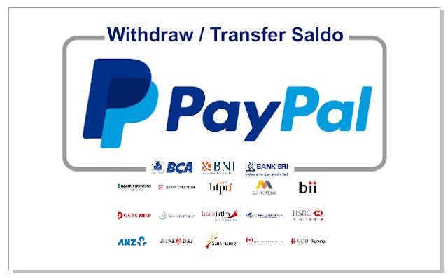 Cara Withdraw / Transfer Saldo PayPal ke Bank Lokal Terbaru 2019