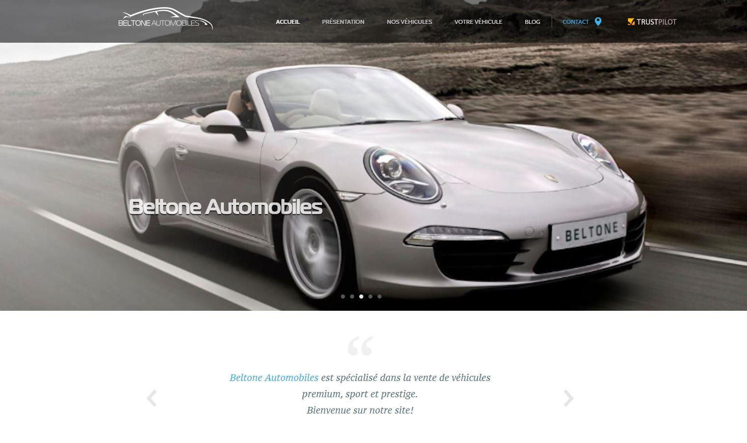 Beltone Automobiles à Lyon - Le site web