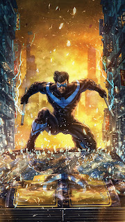 Nightwing Artwork Mobile HD Wallpaper