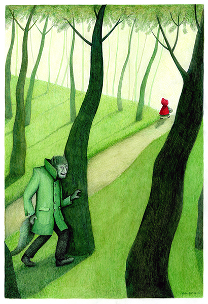 little red riding hood illustration yara dutra