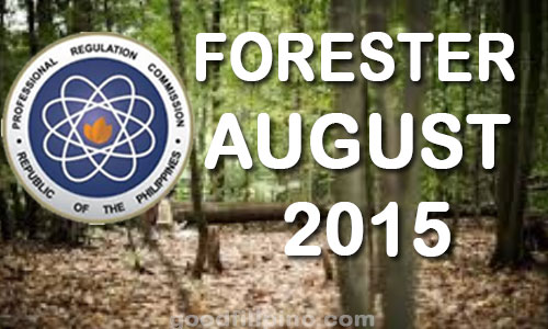 August 2015 Foresters Board Exam Results - PRC List of Passers (August 2015)