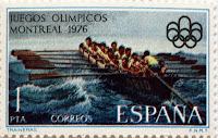 JUEGOS OLÍMPICOS MONTREAL 1976. TRAINERAS