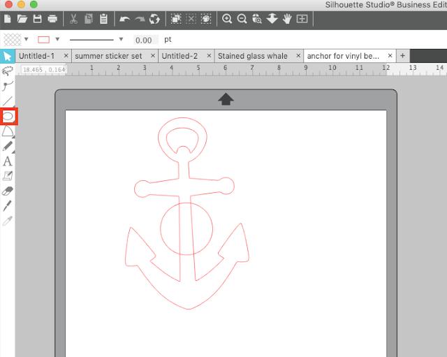 split design, Silhouette Studio, split shape, silhouette design studio, silhouette monogram