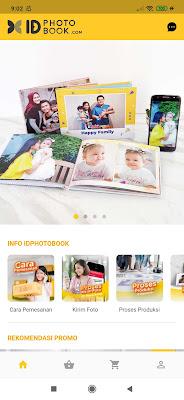 Halaman utama aplikasi ID Photobook