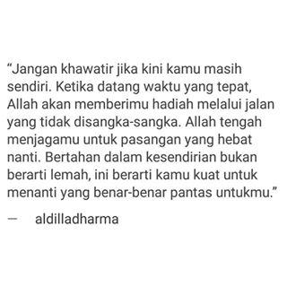 Quote Cinta dari Aldila Dharma Wijaya