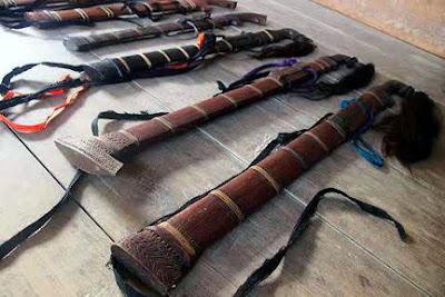 Gambar Guma Senjata Tradisional Sulawesi Tengah