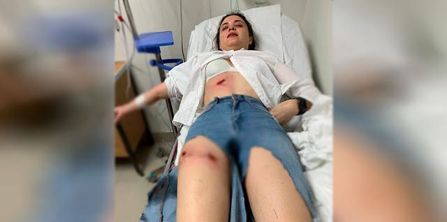 Curan y despachan mujer herida de arma de fuego en medio de protestas en Navarrete