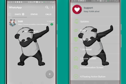 Cara Membuat Whatsapp Transparan Dengan Aplikasi Whatsapp Mod Apk 2019