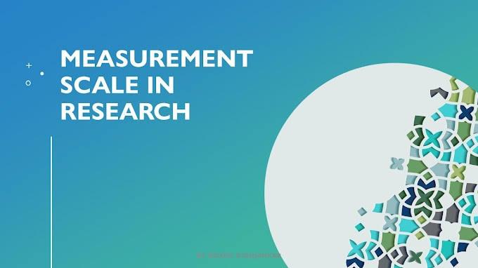 Measurement scale in research