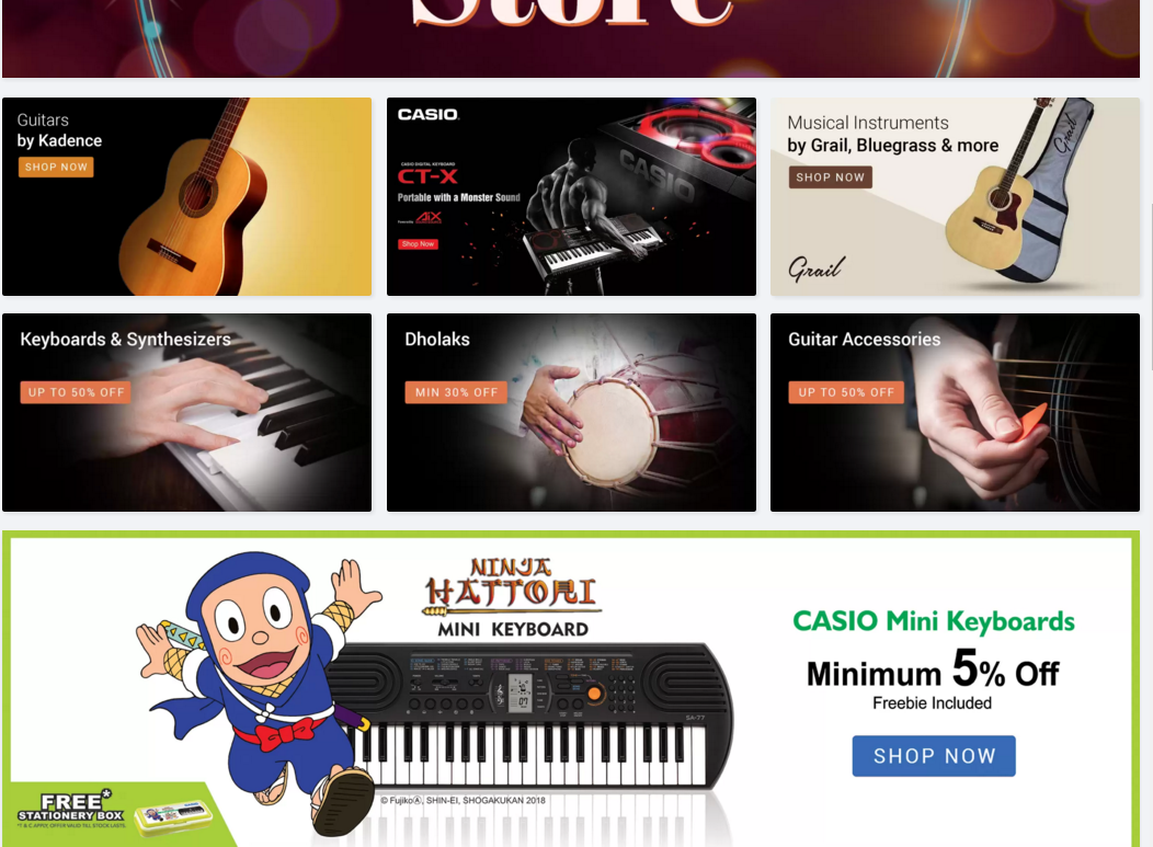 flipkart cashback offers on Musical Instruments DISCOUNT 50