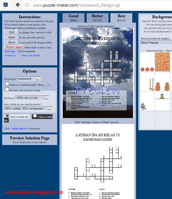 Membuat TTS atau teka-teki silang itu mudah. Ada banyak cara untuk membuatnya, salah satunya adalah dengan Instant Online Crossword Puzzle Maker 4
