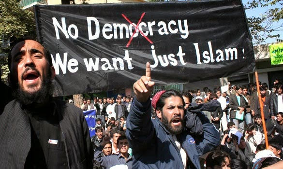 no democracy only sharia