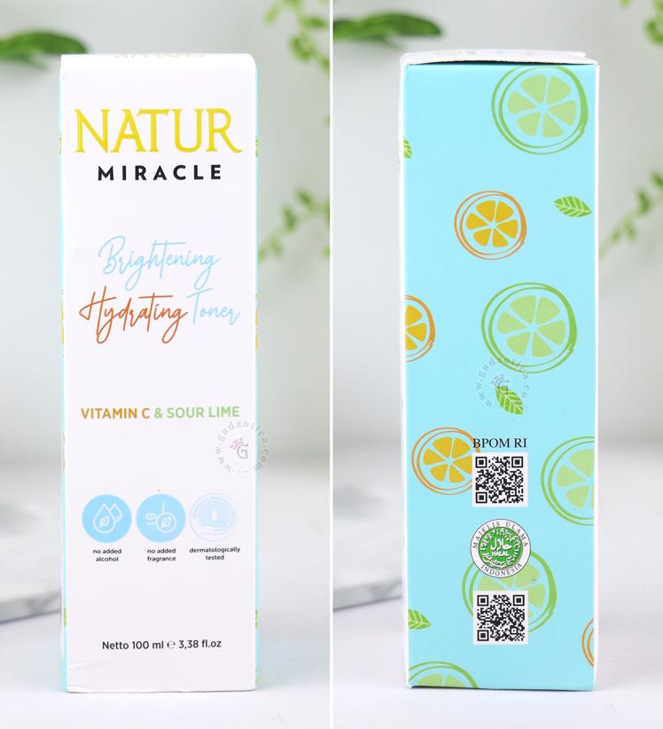 Natur Miracle Hydrating Toner BPOM Halal