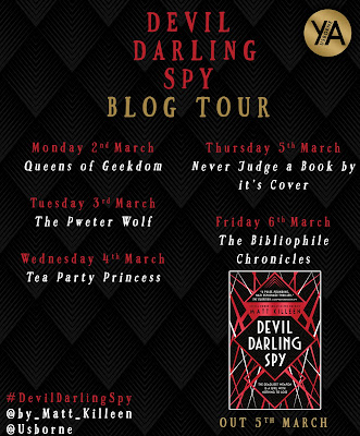 Devil Darling Spy by Matt Killeen Blog Tour banner