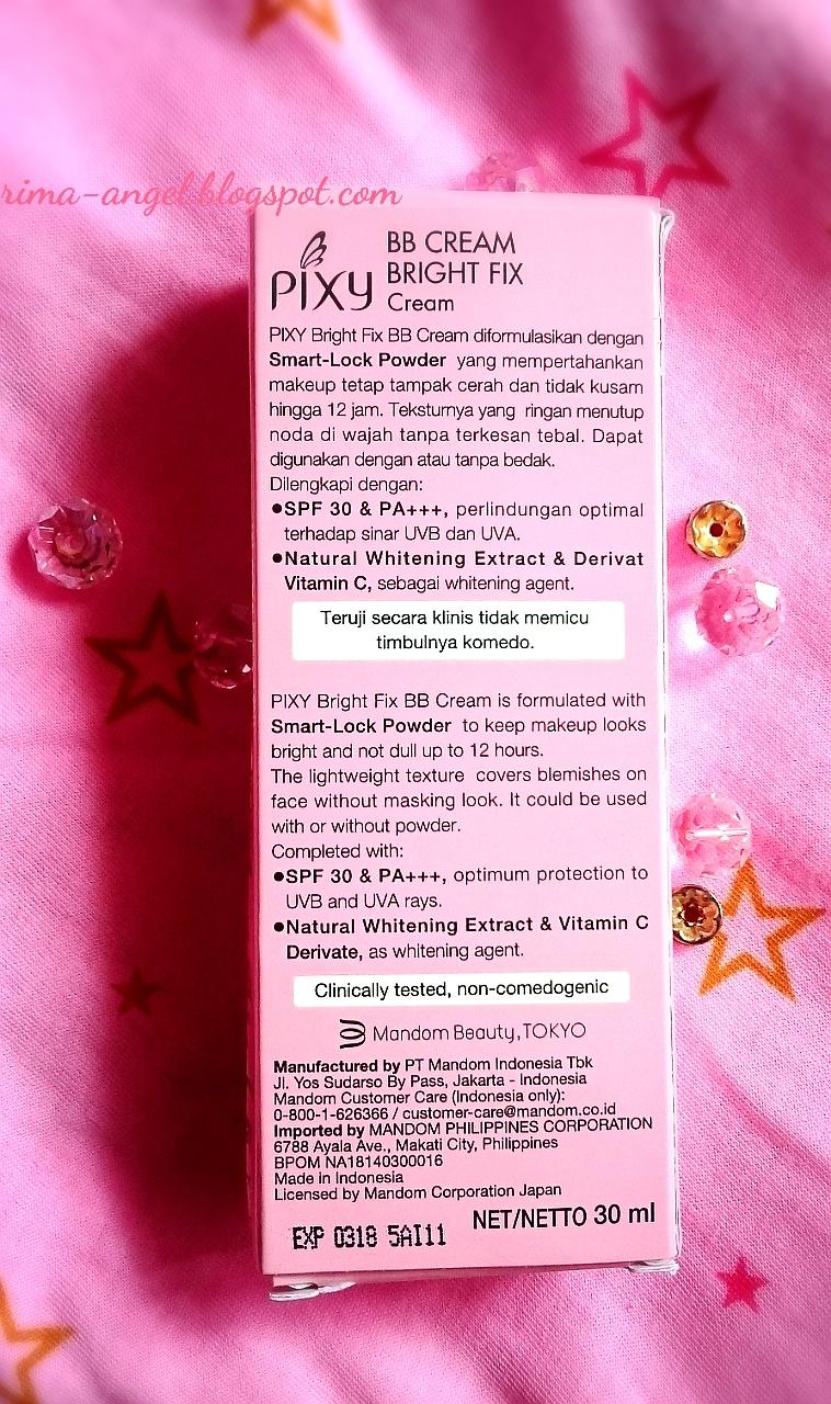 Review Pixy Bb Cream Bright Fix Bagian Belakang Mengenai Ini Produk Dan Perusahaannya