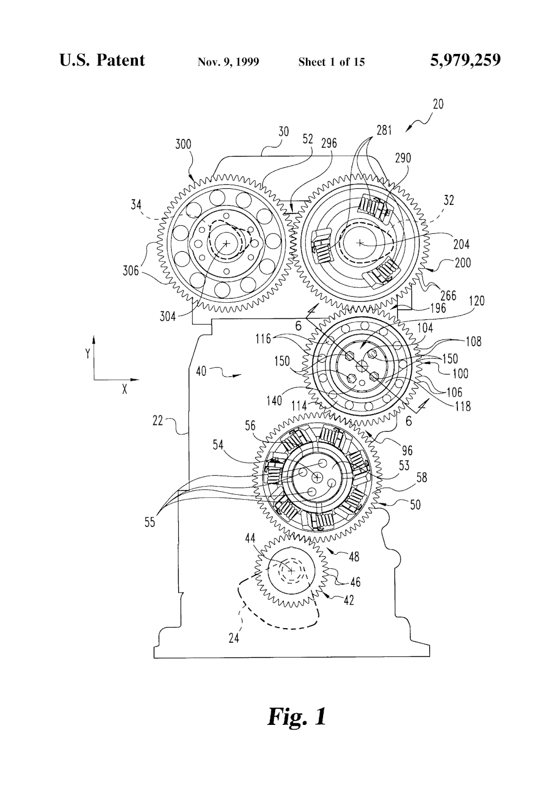 medium resolution of gear train assembly including a scissor gear