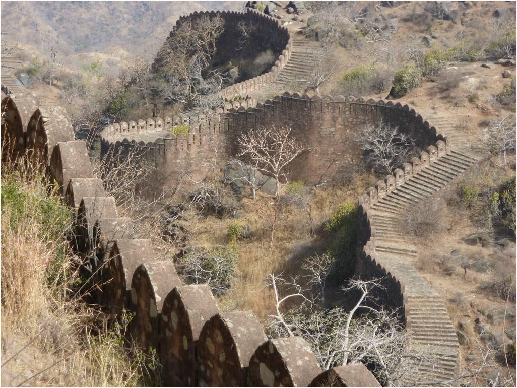 Αποτέλεσμα εικόνας για Τείχος Kumbhalgarh, Ινδία