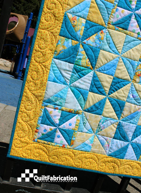 Autumn Breeze border quilting
