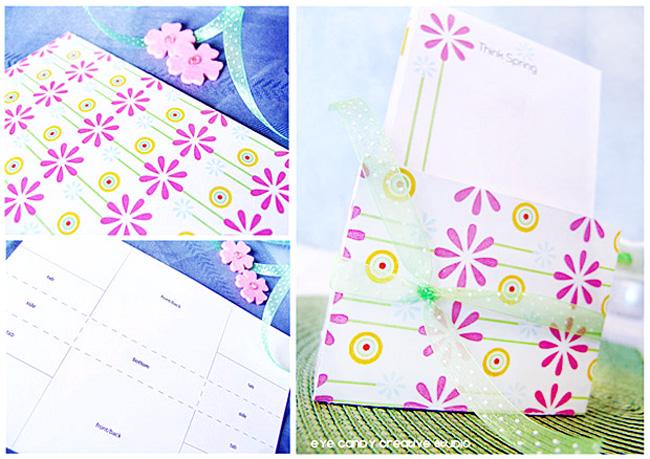 stationery box to hold paper, desk stationery, daisy stationery line