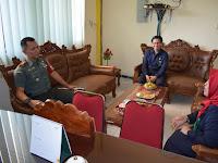 Dandim 0207/Simalungun Laksanakan Komsos Dengan Ketua Pengadilan Agama Pematang SIantar
