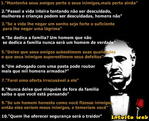 O Poderoso Chefão Frases Don Corleone Reflexão Da Mensagem