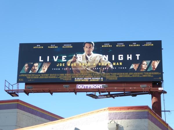 Live By Night movie billboard