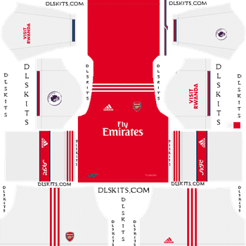 Download Kit DLS Arsenal Home 2019 - 2020