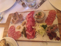 The charcuterie platter  from Lafayette Grand Cafe & Bakery NYC.
