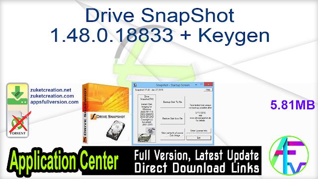 Drive SnapShot 1.48.0.18833 + Keygen