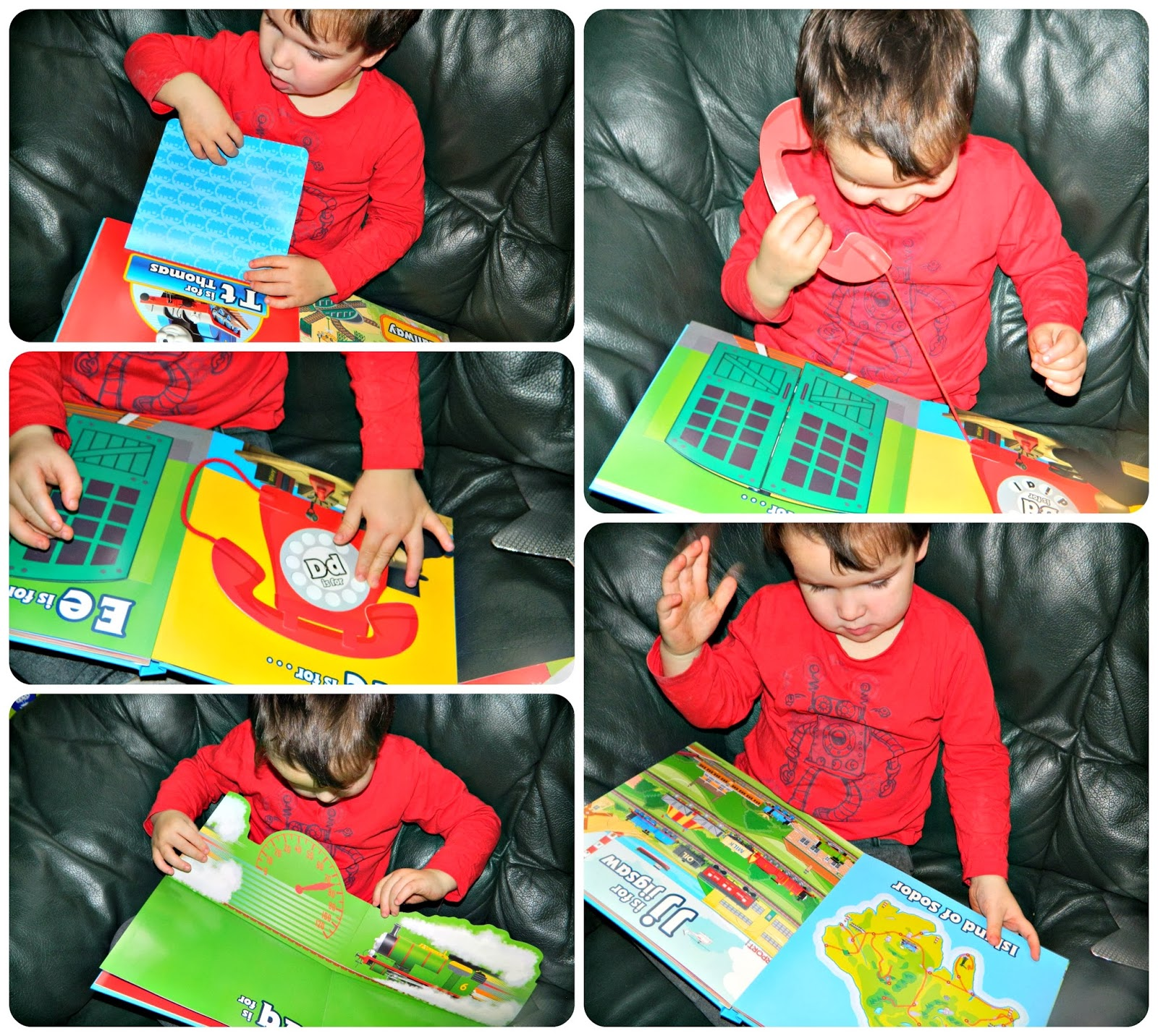 Small boy enjoying Thomas & Friends Amazing ABC Egmont Publishing