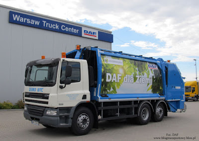 DAF FAN CF75.310 z zabudową komunalną firmy Geesinknorba
