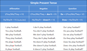Contoh Kalimat Simple Present Positive Negative dan Interogative