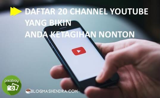 20 Channel YouTube yang Bikin Nagih