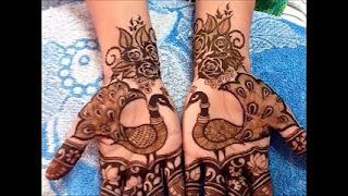 peacock feather mehendi designs