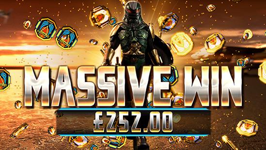 3021 Bounty Hunter game showing massive win - Reflex Gaming