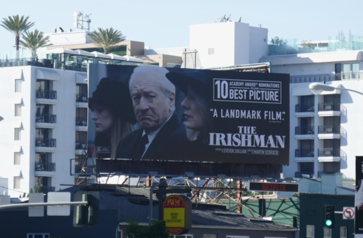 Irishman landmark film Oscar billboard