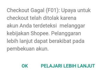 Kenapa Shopee Tidak Bisa Buat Pesanan