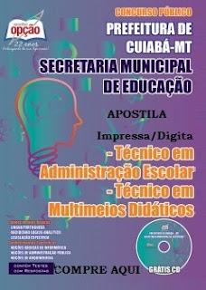 Apostila Prefeitura de Cuiabá concurso 2015 - Técnico em Administração.