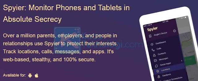 Spyier adalah aplikasi sadap WhatsApp yang bagus dan tidak kalah dengan yang lain. Aplikasi ini memiliki fitur seperti, melacak pesan, lokasi, serta panggilan WhatsApp. Selain itu, Spyier juga memiliki opsi untuk memantau platform media sosial lainnya.