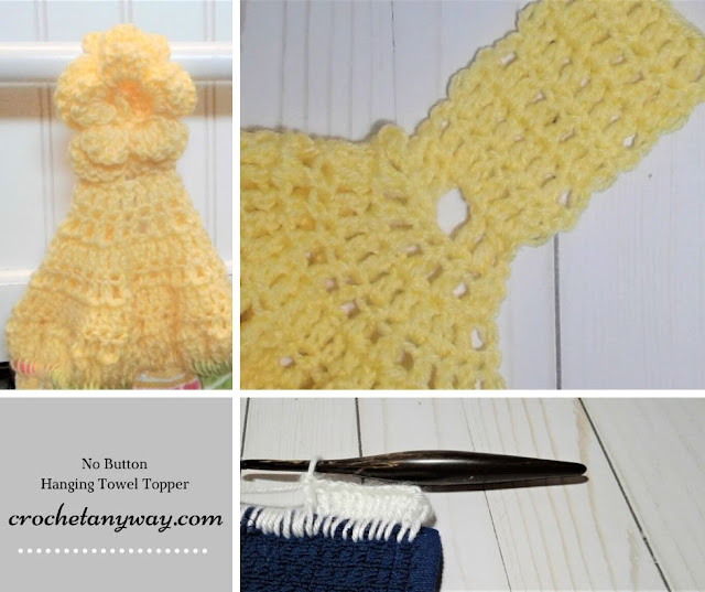 steps for crocheting a towel topper