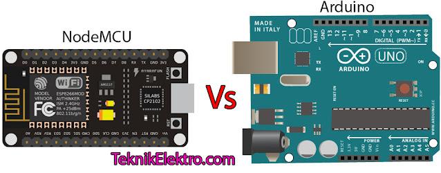 Perbedaan NodeMCU dan Arduino