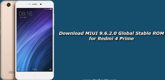 Download MIUI 9.6.2.0 Global Stabil ROM Xiaomi Redmi 4 Prime