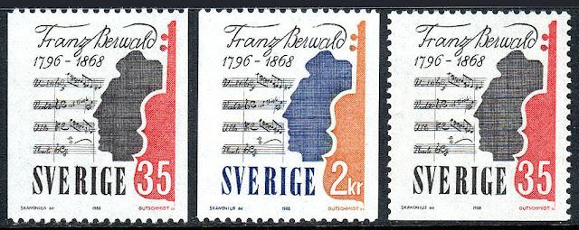Sweden  Franz Berwald, composer. Violin, Music