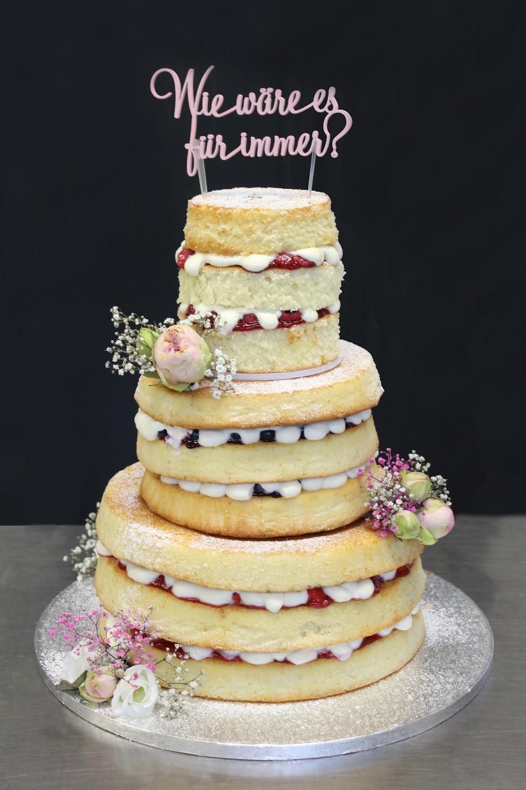 Feines Handwerk Naked Cake Eine Sommerliche Hochzeitstorte Mit