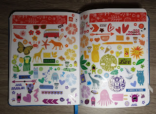 A rainbow sticker spread inspired by Amy Tangerine