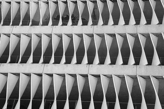 brutalist, British Brutalism, car park, urban photography, architecture, black and white, photography, abstract, Sam Freek,