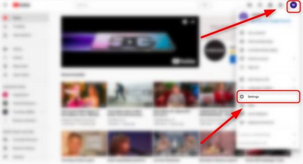 how to change name youtube-settings menu